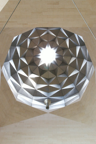 Geometric facets of the dome. Museum of Islamic Art, Doha, Qatar.
